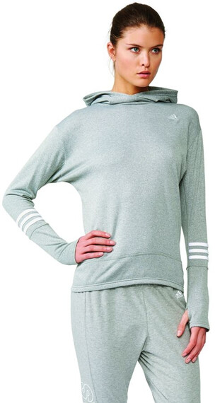 adidas Response Icon Hoody Women grey/mineral red s16/blue glow s16